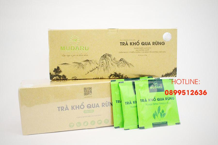 Trà khổ qua rừng túi lọc Mudaru - Hộp 50 túi (Bộ 5 hộp)
