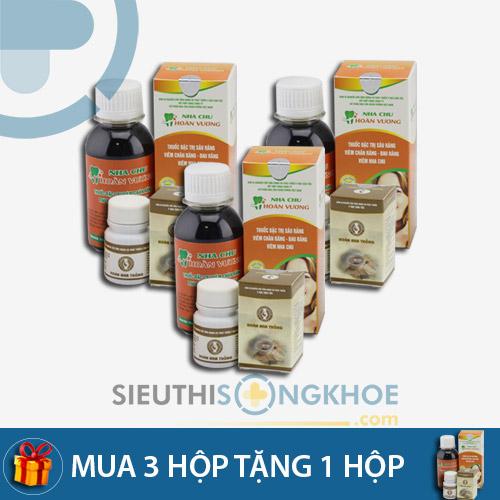 Nha Chu Hoàn Vương- Liệu trình mua 3 bộ tặng kèm 1 bộ