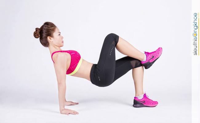 Hình minh họa bước 1 bài tập thể dục tăng cân cho nữ tại nhà 1