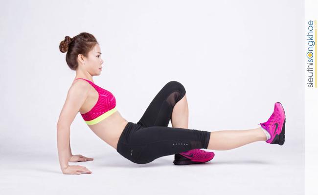 Hình minh họa bước 1 bài tập thể dục tăng cân cho nữ tại nhà 2