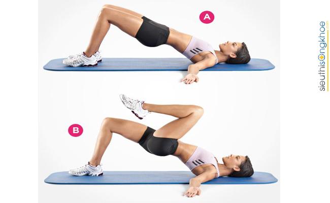 Hình minh họa bài tập thể dục tăng cân cho nữ tại nhà 2