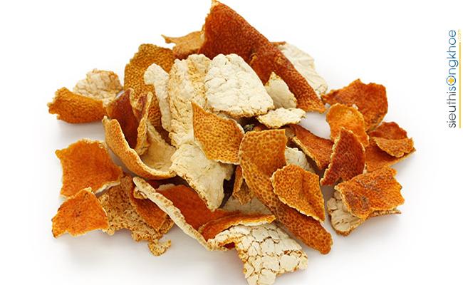 bài thuốc dân gian giúp tăng cân với vỏ cam quýt sấy