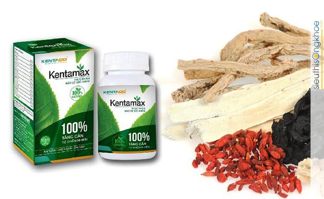 bài thuốc dân gian tăng cân với thuốc tăng cân Kentamax