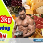 thực đơn tăng cân sau 1 tuần dành cho nam giới