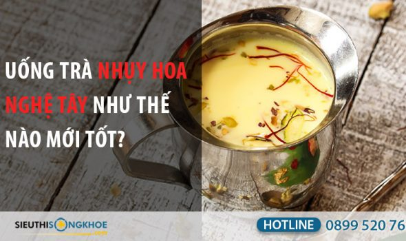 cách pha trà saffron
