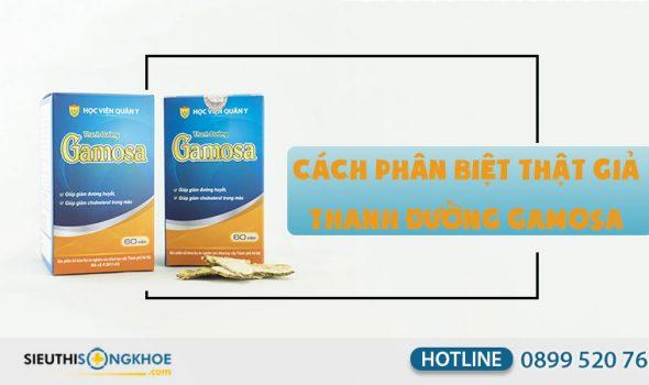 cách phân biệt thật giả thanh đường gamosa