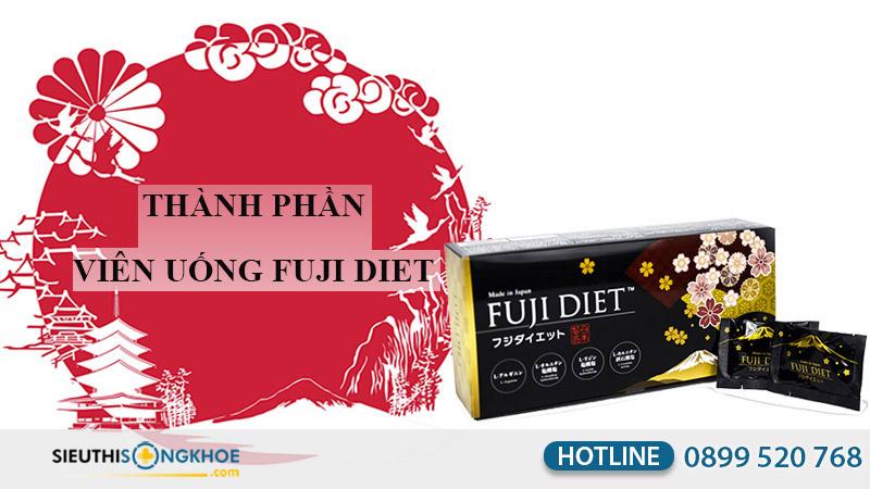 thành phần của viên uống chuyển hóa mỡ fuji diet