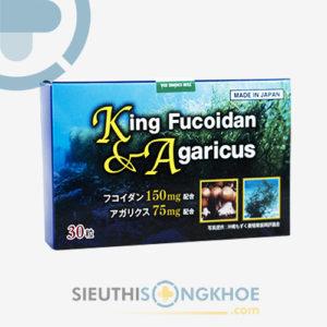 King Fucoidan & Agaricus – Viên Uống Tảo Nâu Hỗ Trợ Cho Người bị Ung Thư, U Bướu