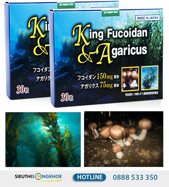 king fucoidan & agaricus 10