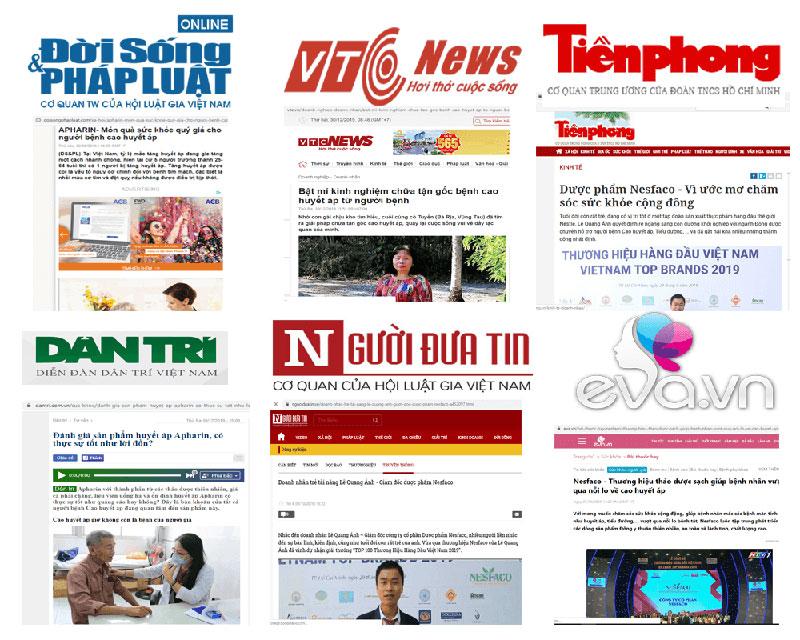 báo chí nói gì về huyết áp apharin