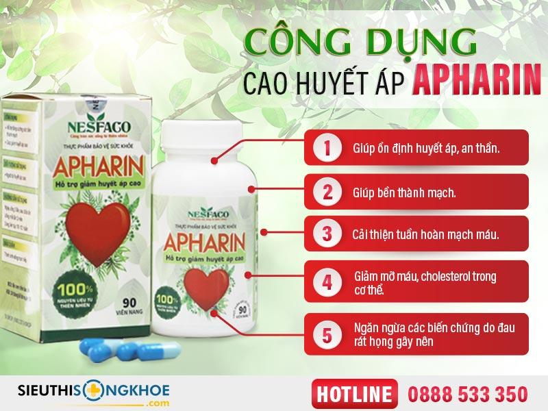 công dụng huyết áp apharin