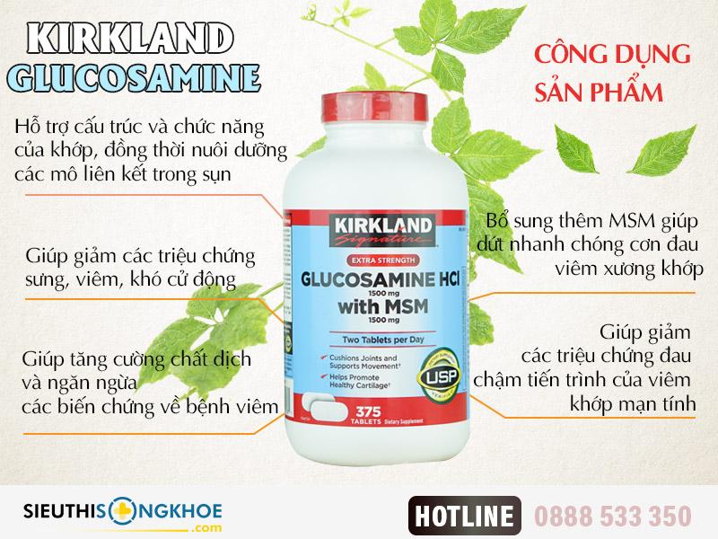 kirkland glucosamine hcl 1500mg