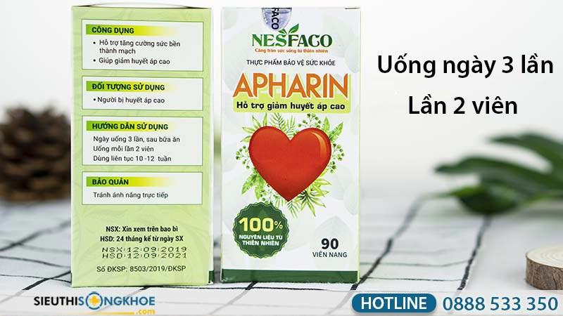 cách sử dụng viên uống apharin