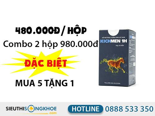 kichmen 1h giá bao nhiêu