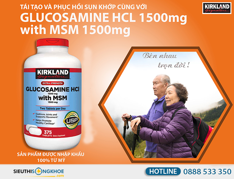 kirkland glucosamine hcl 1500mg 10