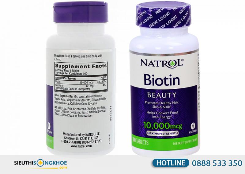 viên uống mọc tóc biotin giá bao nhiêu