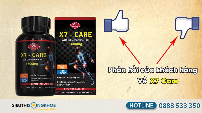 phản hồi khách hàng sử dụng x7 care