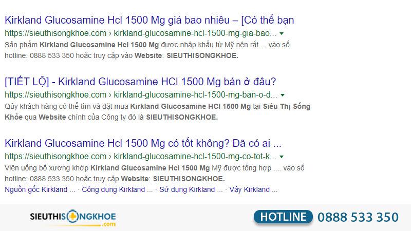 cach phan biet that gia kirkland glucosamine hcl 1500mg
