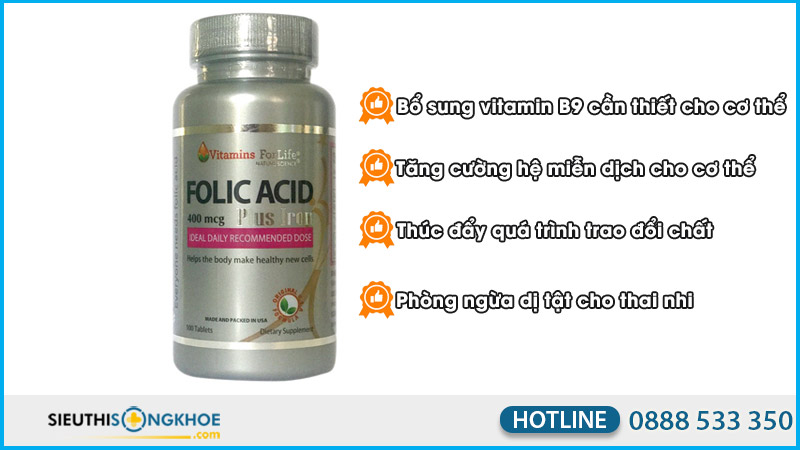 folic acid 400 mcg vitamins for life