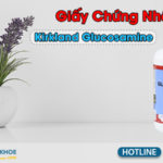 giấy chứng nhận kirkland glucosamine hcl 1500mg