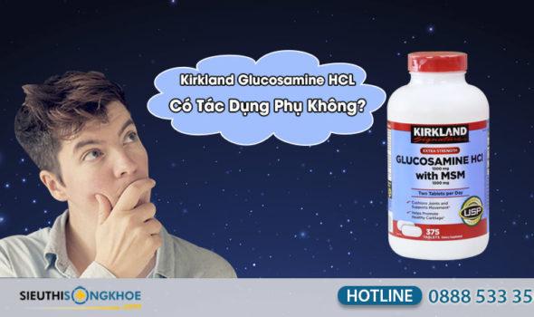 kirkland glucosamine hcl 1500mg có tác dụng phụ không