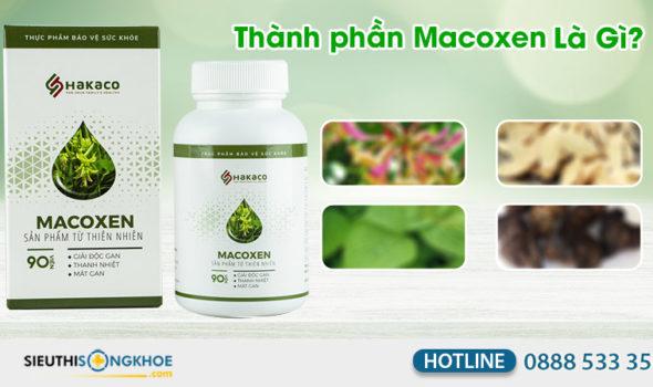 thành phần của mề đay macoxen