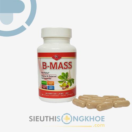 B-Mass - Viên Hỗ Trợ Điều Trị Bệnh Trĩ , Co Búi Trĩ Tự Nhiên, Hiệu Quả