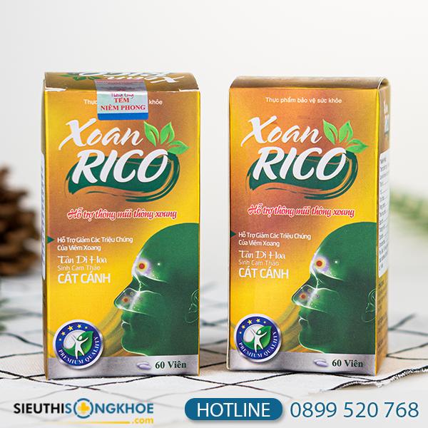 Xoan Rico - Hỗ Trợ giảm Các Triệu Chứng Viêm Xoang Hiệu Quả