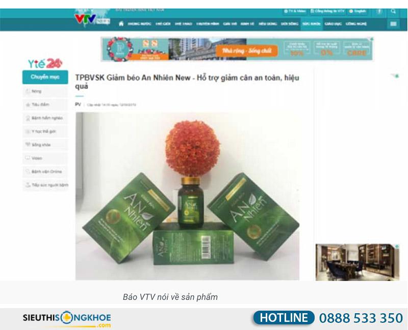VTV đưa tin về giảm béo an nhiên