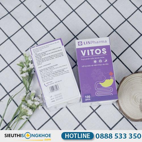 Vitos - Viên Uống Hỗ Trợ Giảm Đau Dạ Dày, Tá Tràng