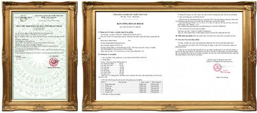 giấy chứng nhận của bộ y tế của Hạ Đường tâm an