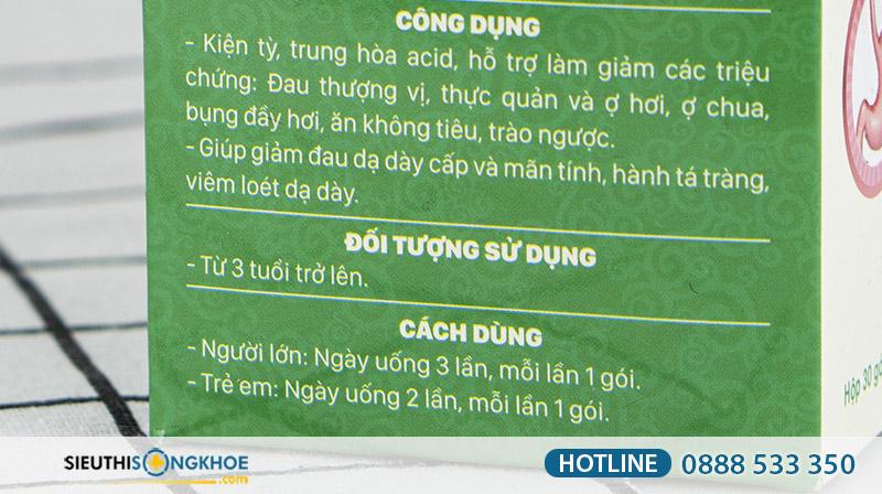 san pham ho tro dieu tri benh da day