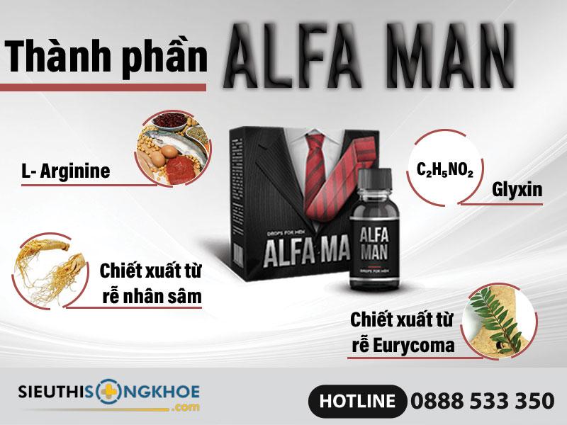 thành phần alfa man