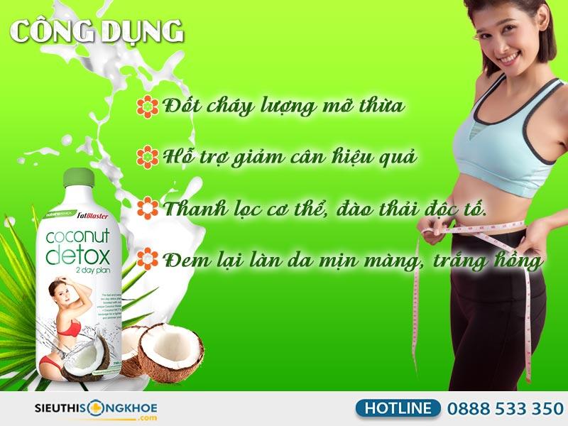 công dụng coconut detox 750ml