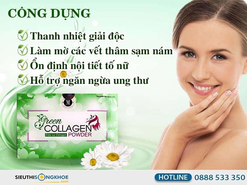 công dụng green collagen powder