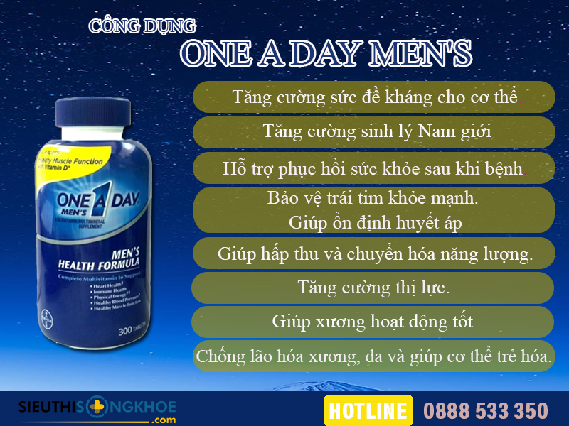 cong dung vien bo sung dinh duong one a day men's