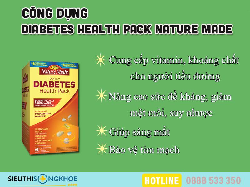 còn vitamin cho nguoi tieu duong nature made diabetes health pack