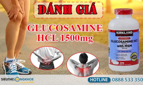 đánh giá kirkland glucosamine hcl 1500mg