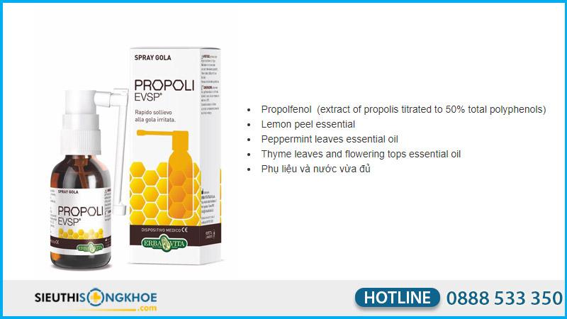 combo spray nasale propoli.Evsp (xịt mũi) và Spray Gola propoli.evsp (xịt họng)