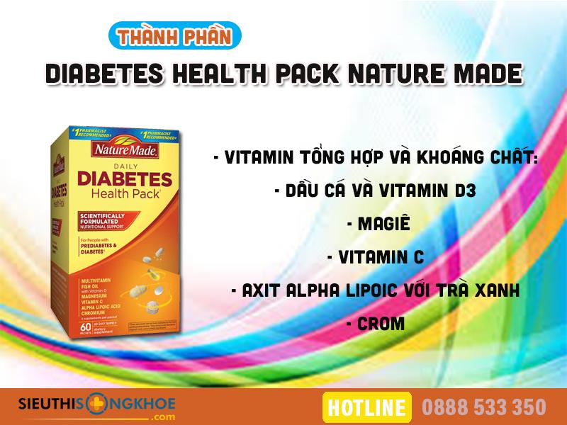 thanh phan vitamin cho nguoi tieu duong nature made diabetes health pack