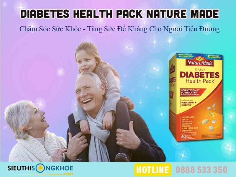 vitamin cho nguoi tieu duong nature made diabetes health pack