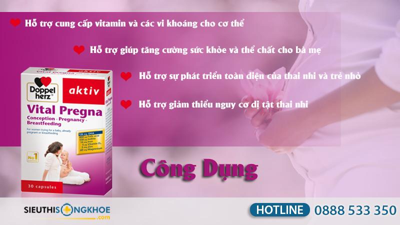 Vital Pregna bổ sung vitamin khoáng chất