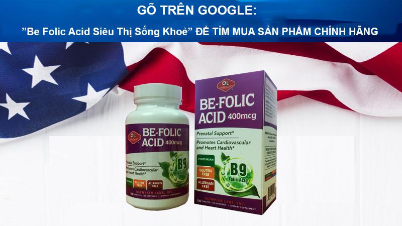 be folic acid 400mcg olympian labs 2