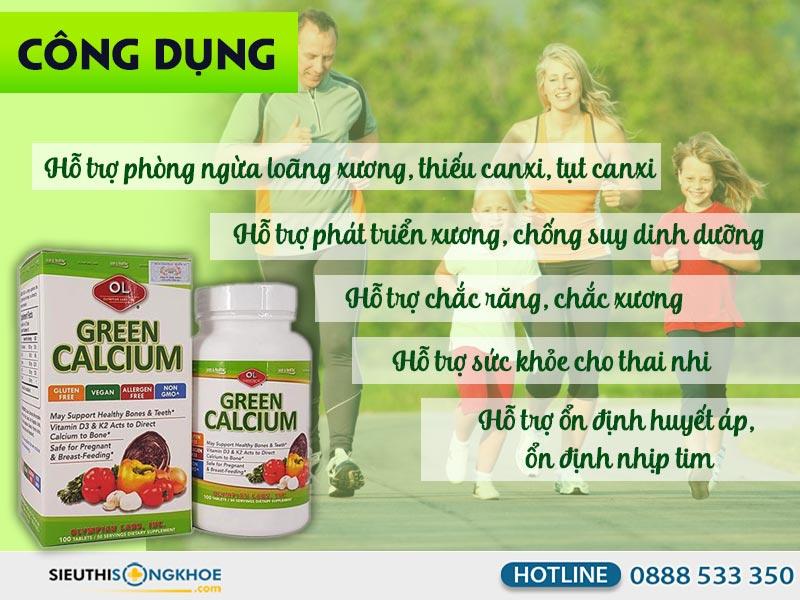 vien bo sung canxi green calcium