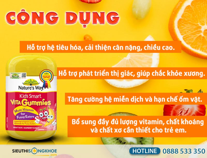 cong dung keo bo sung vitamin cho tre vita gummies multi - vitamin for fussy eaters
