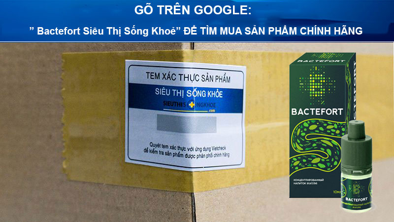 dung dich diet ky sinh trung bactefort sieu thi song khoe