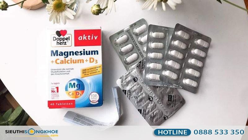 viên uống hỗ trợ bổ xương khớp Doppelherz Aktiv Magnesium Calcium D3 có tốt không?
