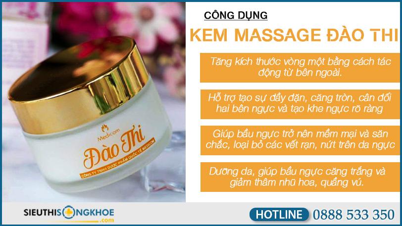 cong dung kem massage dao thi