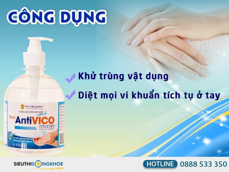 dung dịch rửa tay kho ami antivico học viện quân y
