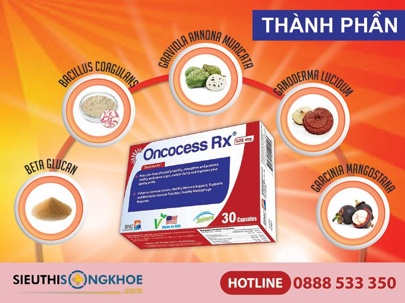 thành phần viên uống oncocess rx